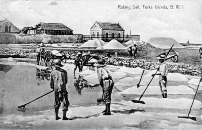 raking salt Turks Islands 111