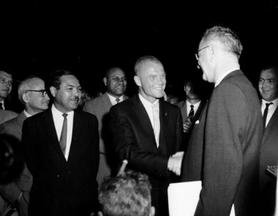 John Glenn greets Lyndon Johnson|234