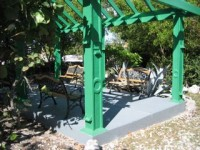 Benches in the gazebo|261