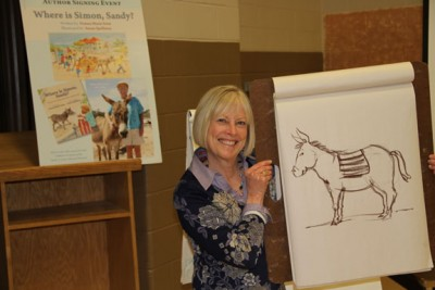 Susan Spellman with drawing 272