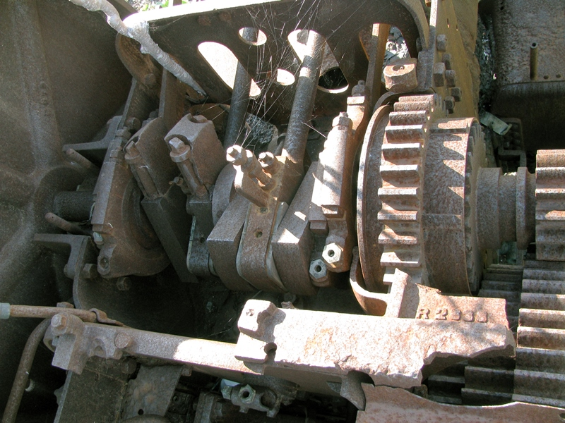 A view of the 3-shaft engine.