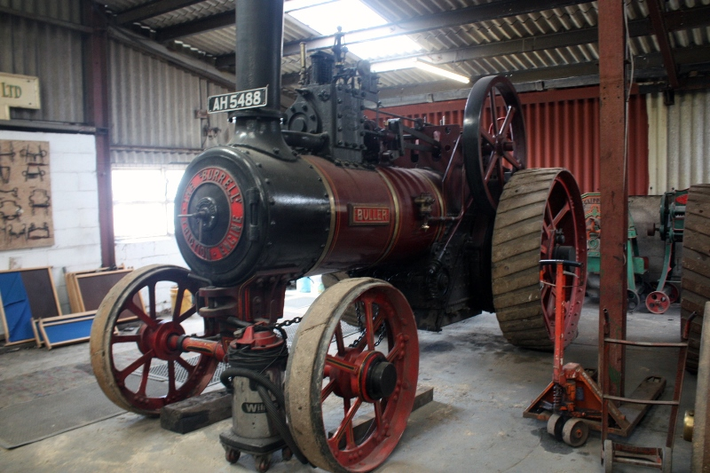 A restored Burrell steam traction engine very similar to the Yankeetown example is displayed in the Strumpshaw Hall Steam Museum. This one is No. 2366, known as Buller, was built in 1901.