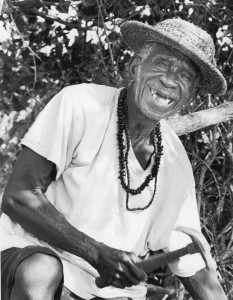 Mr. Alton Higgs on North Caicos in 2011. Photo courtesy Times of the Islands, Siri White photographer.