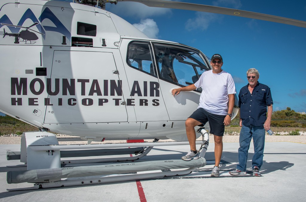 JR and Richard getting ready for the Mountain Air heli flight.