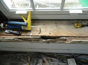 The sills had degraded over time because of wet rot. Photo by Rene Carrillo AND Construction
